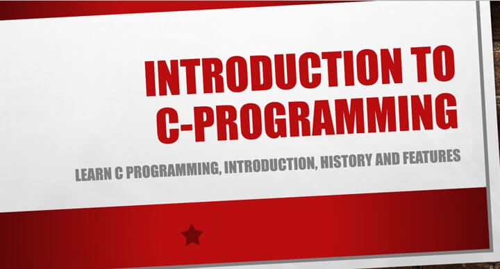 Introduction to C-Programming