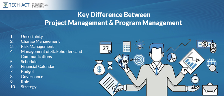 Difference And Considerations - Project - Program Management