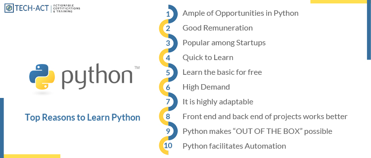 Main Reasons to Learn Python